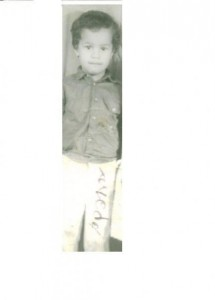 Ahmed as a child. From the blogger's Facebook page