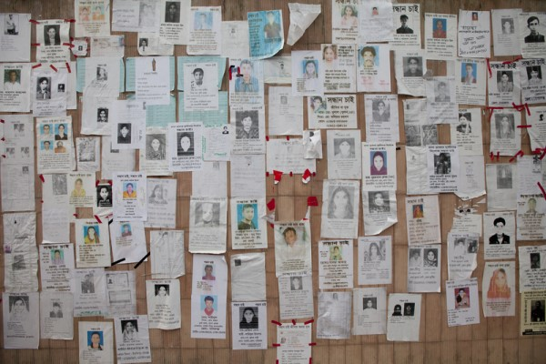Every day there  new missing people information being added to this wall.