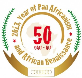African Union 50th anniversary logo. Image from African Union Website: http://www.au.int/