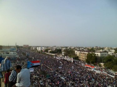 Southern Yemen rallies on May 21 in Aden calling for separation from the North (photo via @NajiAlkaladi)