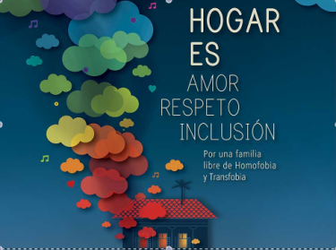 "Detail of the official poster of the VI Conference against Homophobia in Cuba. ""Family is love, respect, inclusion."""
