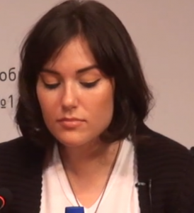 Sasha Grey in Vladivostok, Russia, 15 May 2013, screen capture from YouTube.