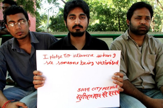 #safecitypledge Delhi. Image courtesy Blank Noise blog. CC BY-NC-SA 2.5