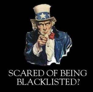 "CK Hung believes that  the ""black list"" for blocking is dictators' favorite tool for censorship. Image from Roger Pielke Jr.'s Blog."