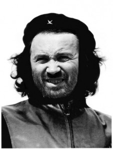An artist's impression of Ilya Ponomarev's radical politics. Remixed by author from  Alberto Korda's iconic 1960 photo of Che Guevara.