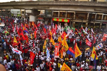 Labor Day rally in the Philippines. Photo from Facebook of Tine Sabillo