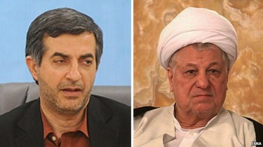 Mashae (left),Rafsanjani source: http://isna.ir/