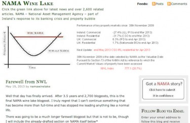 screen shot of the NAMA Wine Lake blog homepage as of May 19 2013