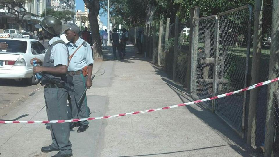 Access to Nangade park blocked by the police.