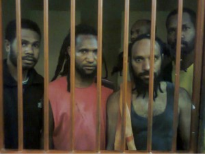 Papuan political prisoners. Photo from Free West Papua Campaign.
