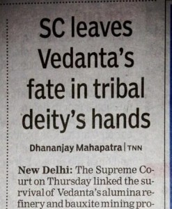 Inaccurate reporting of Vedanta ruling in Times of India. Image tweeted by @unessentialist.