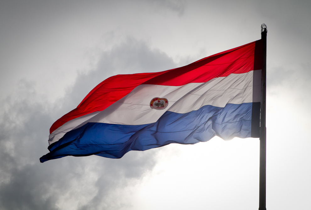 The Paraguayan flag. Photo by Tetsu Espósito