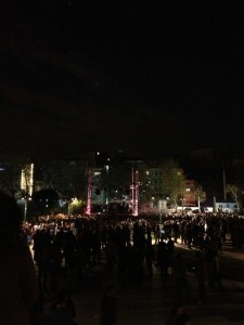 Thousands gather at Taksim's Gezi Park. Photograph shared on Twitter by @yesilgundem