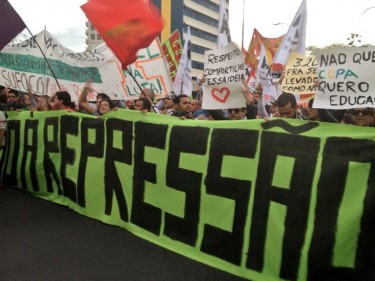 Protest in Sao Paolo on June 17, 2013. By Twitter user and journalist Maíra Kubík Mano