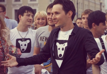 Pavel Durov, screenshot from YouTube clip, 20 February 2013.