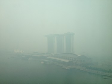 Haze in Singapore. Photo by umiwurnell, Copyright @Demotix (6/20/2013)