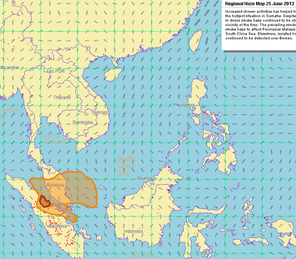 Southeast Asia's Regional Haze Map