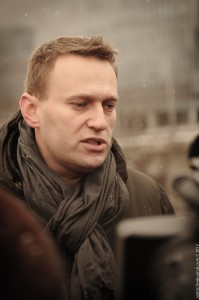 Alexey Navalny attends opposition demonstration in Moscow, 26 February 2012, photo by Evgeniy Isaev, CC 2.0.