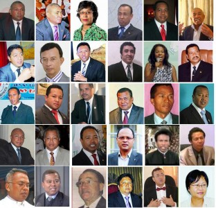 Presidential candidates in Madagascar posted by Candidats Fifidianana on facebook