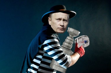 "Hamburglar Putin, with the Stanley Cup & Super Bowl ring. This image was created by Kevin Rothrock, using ""Halloween's Lost Camera 06"" by Andy Pixel, 31 October 2009, CC 2.0."