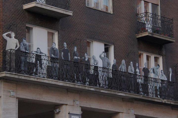 A balcony in a Budapest neighborhood; photo courtesy of Alternative Budapest.