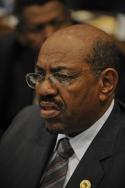 Omar Hassan Ahmad al-Bashir, President of Sudan. Photo released to the public domain by U.S. Navy Mass Communication Specialist 2nd Class Jesse B. Awalt/Released)
