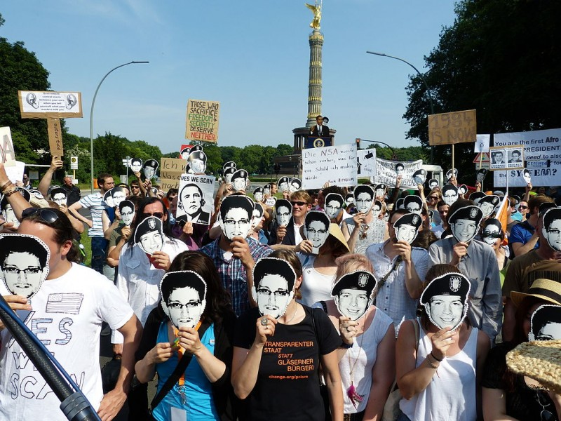 Pirate Party demonstrators in Berlin, 2013. Photo by Mike Herbst via Wikimedia Commons (CC BY-SA 2.0)