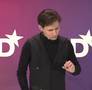 Pavel Durov cares this much. YouTube screenshot. July 3, 2013.