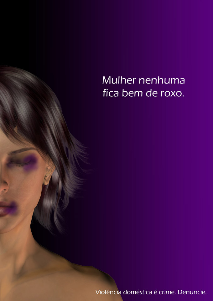 """No woman looks good in purple"". Domestic violence by pablobasile on Deviantart (CC BY-NC-ND 3.0)"
