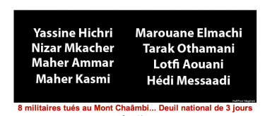 Names of soldiers killed on Mount Chaambi.