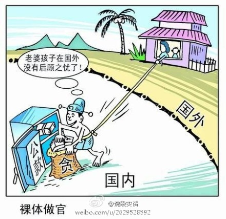 "Political cartoon unloaded by micro-blogger ""Speaking genuinely"" to Sina Weibo."