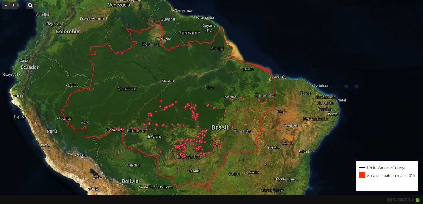 Boundaries of Amazonia Legal. Map by InfoAmazonia.org