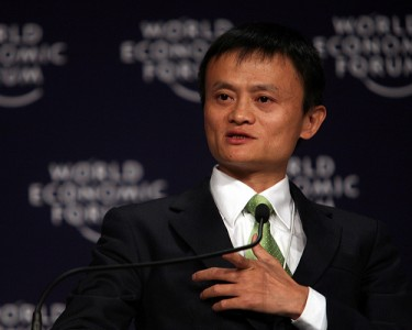 Jack Ma Yun speaks at the World Economic Forum in Tianjin, China September 2008. Photo by Natalie Behring, World Economic Forum (CC: BY-NC-SA)