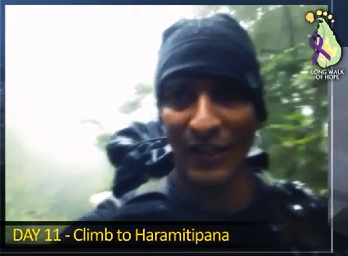 Screenshot from the Video Diary of Ruvan Ranatunga