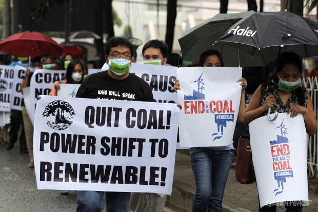 'End Coal' rally in Davao. Image from Greenpeace