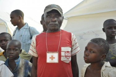 Stephane is a 59year-old Red Cross employee in DRC. He is a refugee in Uganda for the second time in his life. Photo courtesy of @luckycbeck.