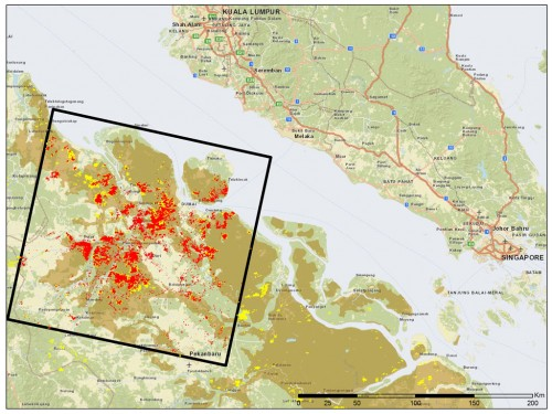 Map of Indonesia forest fires from The Center for International Rorestry Research