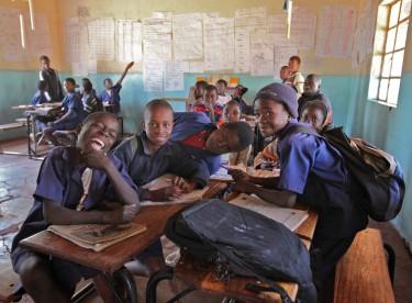 Village school class in Zambia. Photo by Jurvetson on Flickr (CC