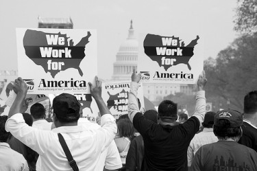 Immigration Reform Rally 2010, Washington DC. Photo by Anuska Sampedro on Flickr (CC BY-NC-ND 2.0)