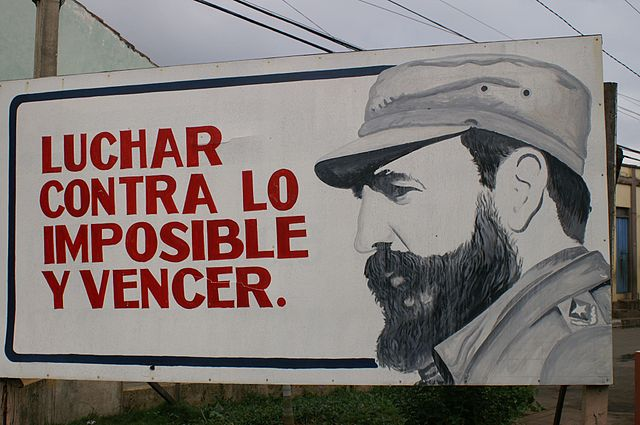 Billboard in Cuba. Photo by Jim Snapper. (CC BY 2.0)