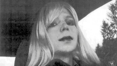 Imgage of Chelsea Manning with a wig shared extensively on the web. Taken from Wikipedia
