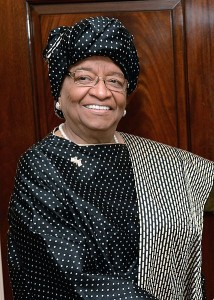 "Liberia's president Ellen Johnson Sirleaf, a Nobel peace laureate,  acknowledges that the education system in Liberia is ""in a mess"". Public Domain photo from the US State Department."