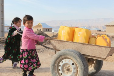 Children fetching water in southern Tajikistan. Image by Alexander Sodiqov, November 2009.