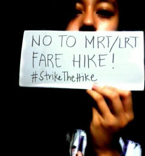 No to MRT Fare Hike