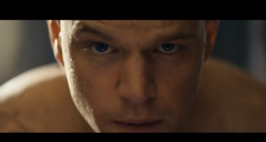 "Matt Damon in his leading role on ""Elysium."" Photo taken from YouTube."