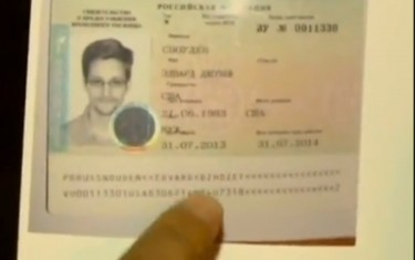 Snowden's Asylum Documents. Youtube screenshot. August 2, 2013