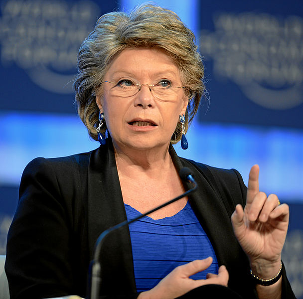 Viviane Reding, Vice-President and Commissioner, Justice, Fundamental Rights and Citizenship, European Commission, Brussels; photo courtesy of World Economic Forum, Davos, Switzerland, January 2013, used under Creative Commons 2.0 license.