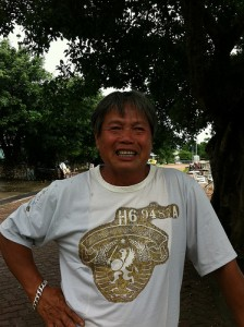 60 year-old Big Lai still catches fish everyday. Urban Diary. Permission to use.