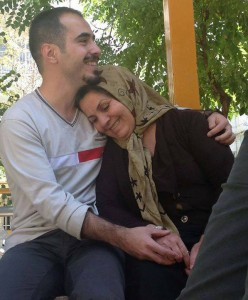 Hossein Ronaghi Maleki and his mother Zoleykha