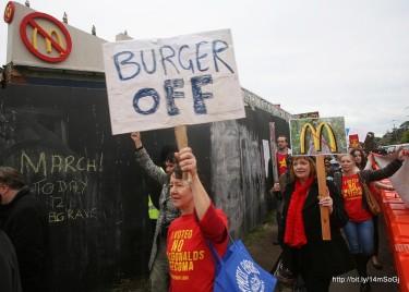 Burger Off Tecoma Protest